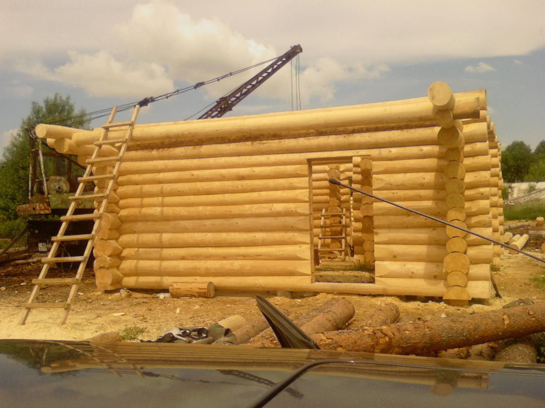 11.10.2009. srub. строительства бани